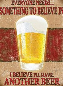 Beer Something To Believe In fridge magnet   (og)
